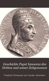 Geschichte Papst Innocenz des Dritten und seiner Zeitgenossen