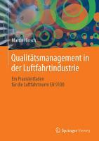 Qualit  tsmanagement in der Luftfahrtindustrie PDF