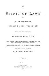 The Spirit of Laws by M. de Secondat, Baron de Montesquieu: Volume 2