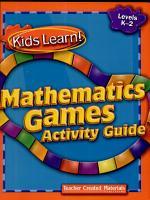 Kids Learn  Mathematics Games  Grades K 2 Kit PDF