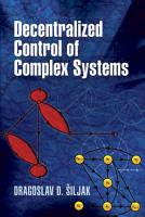 Decentralized Control of Complex Systems PDF