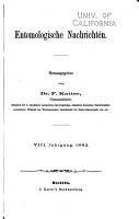 Entomologische Nachrichten PDF