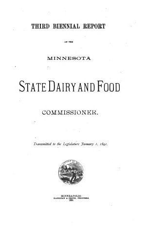 Biennial Report of the Minnesota State Dairy and Food Commissioner