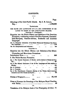 The Journal of the Indian Archipelago and Eastern Asia