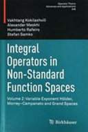 Integral Operators in Non-Standard Function Spaces
