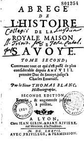 Abregé de l'Histoire de la Royale Maison de Savoye
