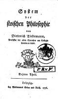 System der Stoischen Philosophie PDF
