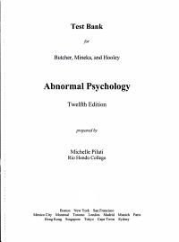Abnormal Psychology Tb Sup PDF