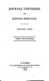 Journal universal des sciences médicales: Volume26