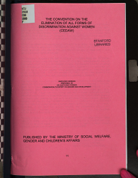 The Convention on the Elimination of All Forms of Discrimination Against Women  CEDAW  PDF