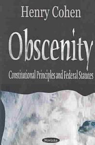 Obscenity and Indecency Book
