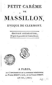 Petit carême de Massillon, evêque de Clermont