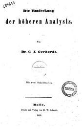 Die Entdeckung der hoheren Analysis von C. I. Gerhardt