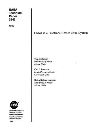 Chaos in a Fractional Order Chua System PDF