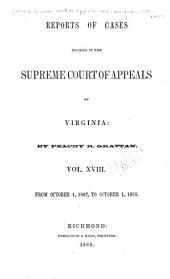 Cases Decided in the Supreme Court of Appeals of Virginia: Volume 59
