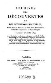 Archives des Decouvertes Et Des Inventions Nouvelles, Faites dans les Sciences, les Arts et les Manufactures, tant en France que dans les Pays etrangers: Volume22
