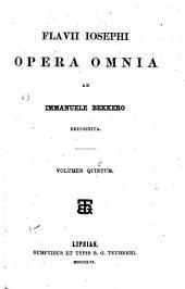 Flavii Iosephi opera omnia: Volume 5