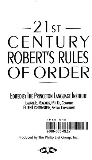 21st Century Robert s Rules of Order