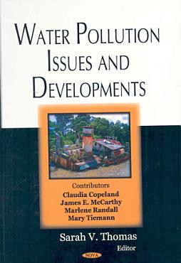 Water Pollution Issues and Developments PDF