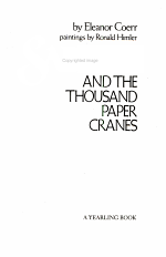Sadako & the Thousand Cranes