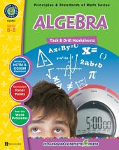 Algebra - Task & Drill Sheets Gr. 6-8