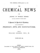 The Chemical News and Journal of Physical Science: Volume 72