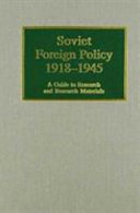 Soviet Foreign Policy, 1918-1945