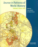 Sources in Patterns of World History: Since 1400