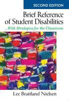 Brief Reference of Student Disabilities PDF