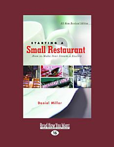 Starting A Small Restaurant Book