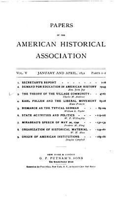 Papers of the American Historical Association PDF