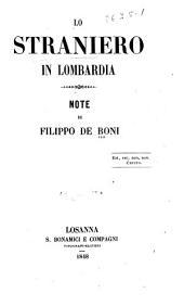 Lo straniero in Lombardia: note. Parte prima