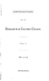 Contributions from the Herbarium of Columbia College: Volume 3, Issue 51