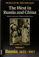 The West in Russia and China  Russia  1472 1917 PDF