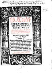 Poeta comicus in sua metra restitutus