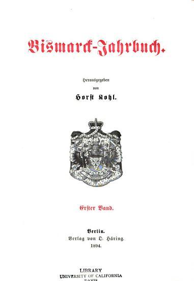 Bismarck Jahrbuch PDF