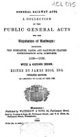 General Railway Acts PDF