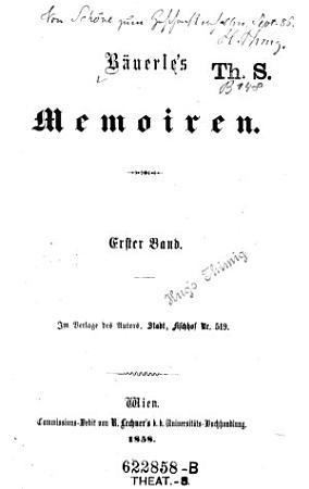 B  uerle s Memoiren PDF