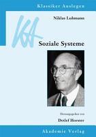 Niklas Luhmann  Soziale Systeme PDF