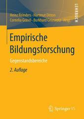 Empirische Bildungsforschung: Gegenstandsbereiche, Ausgabe 2