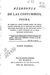 Filosofía de las costumbres: poema