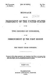Message of the President of the United States Communicated to the Two Houses of Congress ....: Page 3