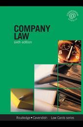 Company Lawcards 6/e: Sixth edition, Edition 6
