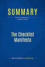 Summary: The Checklist Manifesto