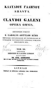 Claudii Galeni Opera omnia: Volume 20