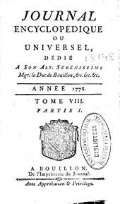Journal encyclopédique: Volume8,Partie1