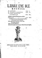 Libri De re rustica