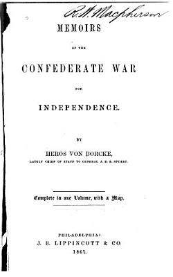 Memoirs of the Confederate War for Independence PDF