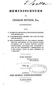 Reminiscences of Charles Butler ...