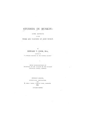 Studies in Ruskin PDF